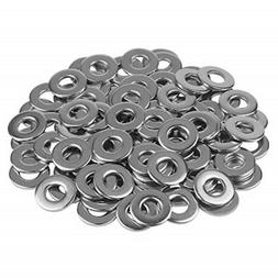 Favordrory 1/4 Inch Stainless Flat Washer, 5/8 Inch Outside
