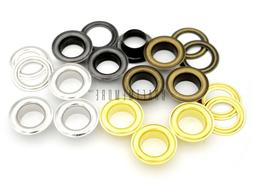 1 inch Hole 10 Sets Grommets Eyelets with Washers for Leathe