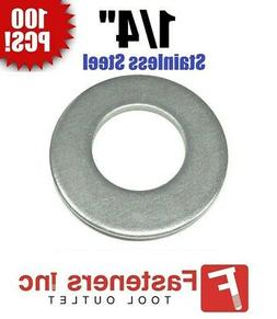 "1/4"" Stainless Steel Flat Washers  5/8"" OD / .037 Thick"