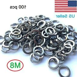 M8 Stainless Steel Split Lock Washers 8mm Spring Washer
