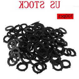 100x Garden Hose Washers Rubber O-Ring Seals Self Locking Ta