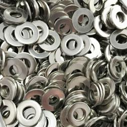 100Pcs Stainless Steel Flat Washers M1.6 to M10 Metric Screw