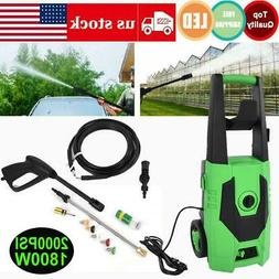 110V Electric Washer 3000 PSI 1800W High Pressure Washer wit