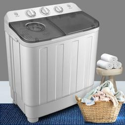 17LBS Portable Washing Machine Twin Tub Double Motor Spin Dr