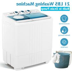 Compact Washing Machine Twin Tub Portable Washer&Dryer with