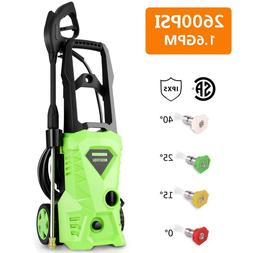 HOMDOX 2600 PSI   1.6 GPM Electric Pressure Washer with Hose