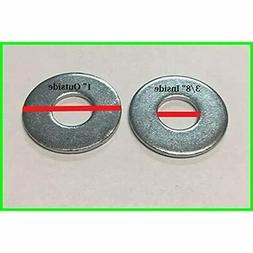 3/8 X 1 OD Flat Washers Zinc Plated  By Industrial &amp Scie