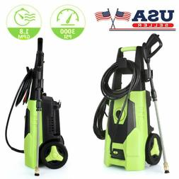 3000 PSI 1.8GPM Electric Pressure Washer High Powerful Water