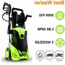 3000PSI 1.80GPM Electric Pressure Washer High Power Cold Wat