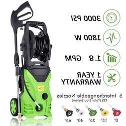 HOMDOX Electric Pressure Washer 3000PSI 1.7GPM with 5 Quick