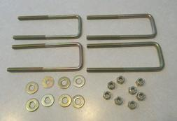 """4 3/8"""" x 16 x 6"""" x 2"""" Wide U Bolts with Lock Nuts and Washer"""