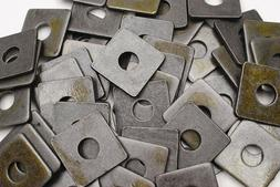 Plain Steel 5/8 x 2 Square Plate Washers 3/16 Thick Unplate