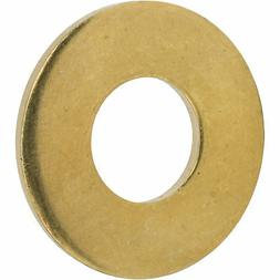 """1/4"""" Solid Brass Flat Washers Commercial Standard Grade 360"""