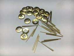 """50 Piece Brass Hand Washers 3/16"""" Square Hole and Tapered"""
