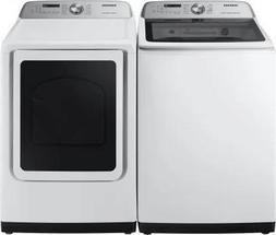 Samsung 5400 Series Side-by-Side Top Load Washer and Electri