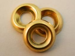#8 Brass Finishing Cup Washer Qty 50