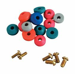 BrassCraft  Assorted in. Dia. Rubber  Beveled Faucet Washer