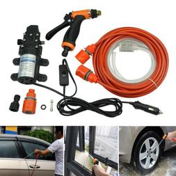 12V High Pressure Water Pump Gun Car Washer Portable Wash El