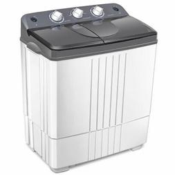 Compact Mini Portable Twin Tub Washing Machine 20 Lbs Total