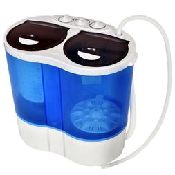 Compact Twin Tub Portable Washing Machine Spinner RV Camping