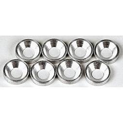 Hot Racing CW36808 Silver Aluminum 3mm Countersunk Washer