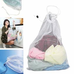 Drawstring Laundry Bag Washing Machine Mesh Net Pouch Clothe