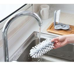 Durable Suction Glass Bottle Cup Brush for Home Kitchen Sink