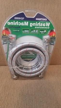 """Eastman 3/4"""" """"Stainless Steel Braided Washing Machine Connec"""