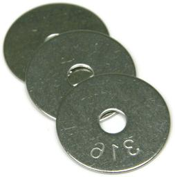 Fender Washers 316 Stainless Steel Large Diameter Washers -