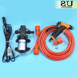 High Pressure Car Electric Washer Kit 130PSI Self-priming Wa