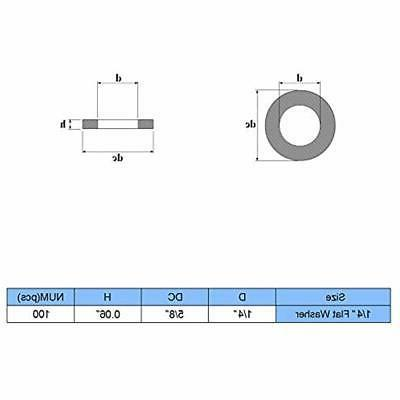 1/4 Stainless Flat Washer, 304 Home