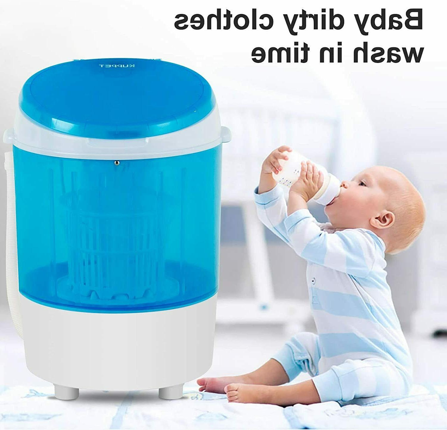 11lbs Semi-Automatic Electric Compact Portable Laundry Washing