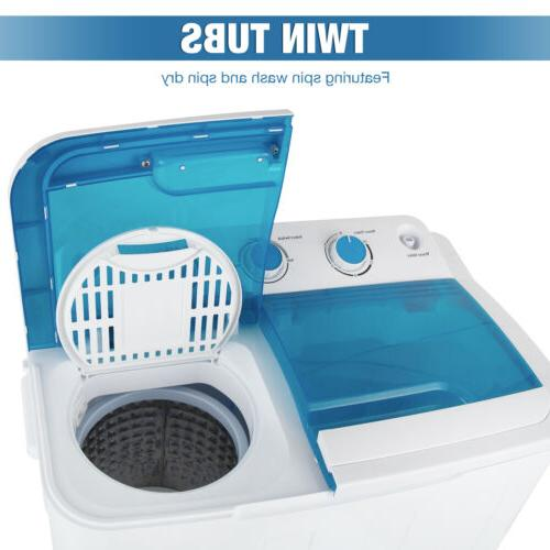 17LBS Portable Washing Twin Laundry Spin