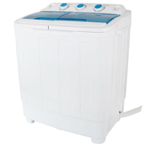 17Ibs Top Load Washing Machine Spiner Dryer Twin Tub laundry