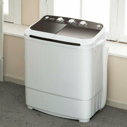 17LBS Portable Compact Machine Washer&Dryer Laundry