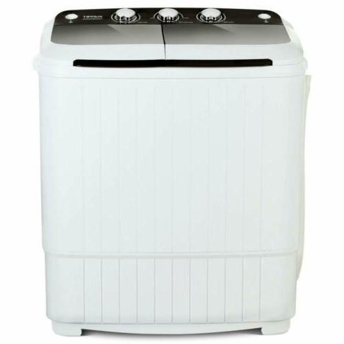 17LBS Portable Compact Washing Machine Twin Spinner Washer&Dryer