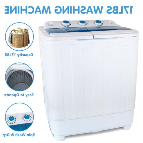 21 lbs semi automatic mini washing machine