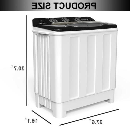 24LBS Machine Tub Compact Spinner Laundry Dryer