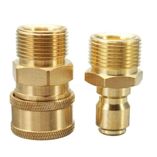 """2pcs 3/8"""" M22 Quick Release Adapter Connecter Coupling"""