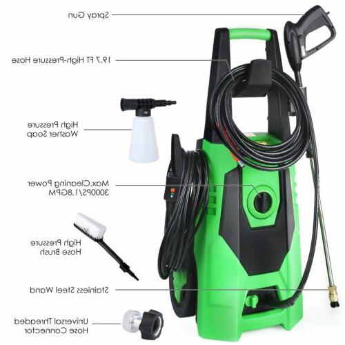 Portable Electric Pressure Washer 3000PSI Water Cleaner