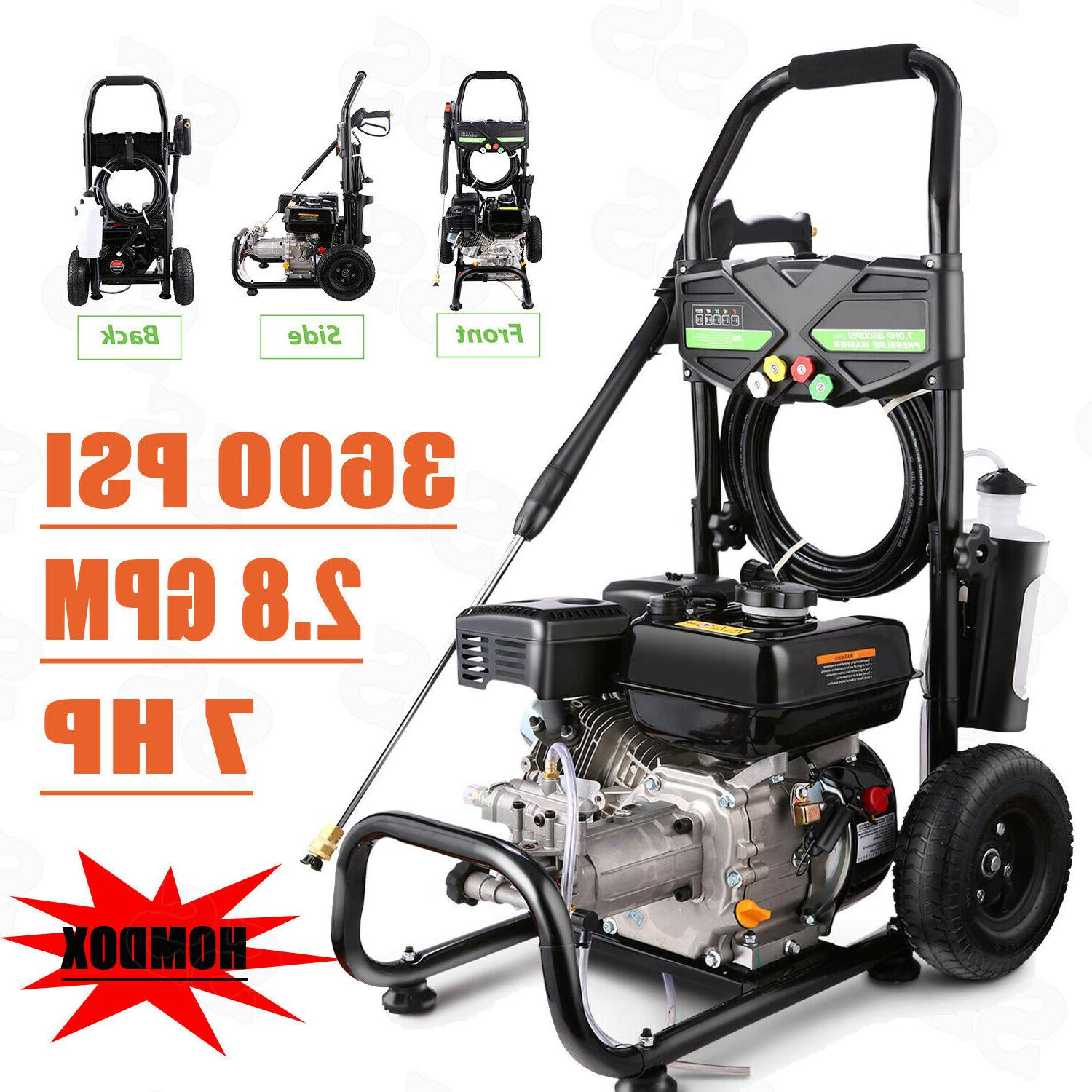 8HP Gas Pressure Washer Powered High Water Petrol Cleaner 39