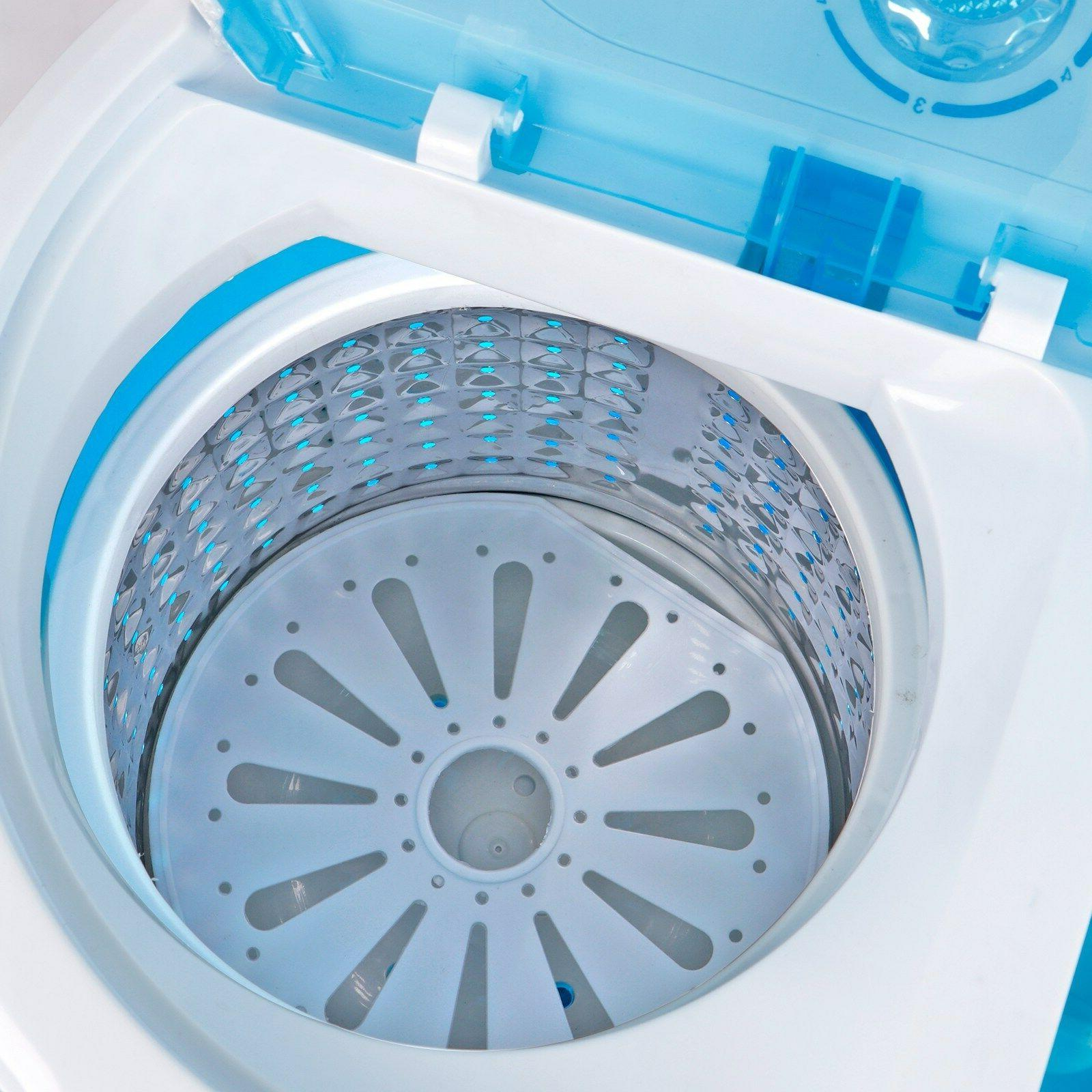 10lbs Compact Washing Machine Spin-Dry Laundry