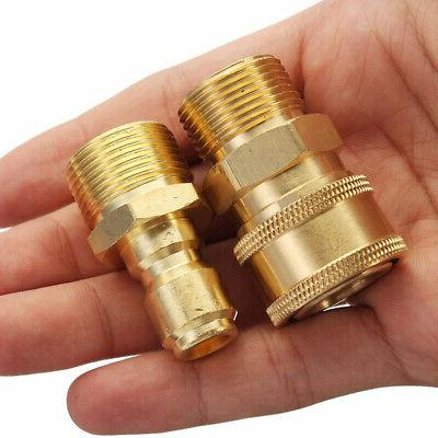Brass Hose Coupling Thread Adapter For Power Pressure Washer