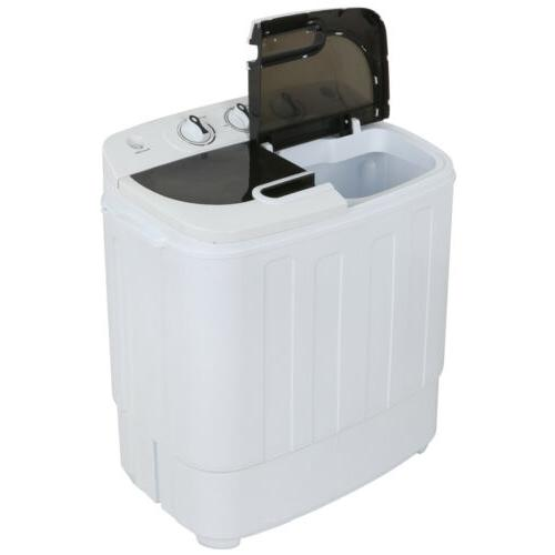 white compact portable washer and dryer