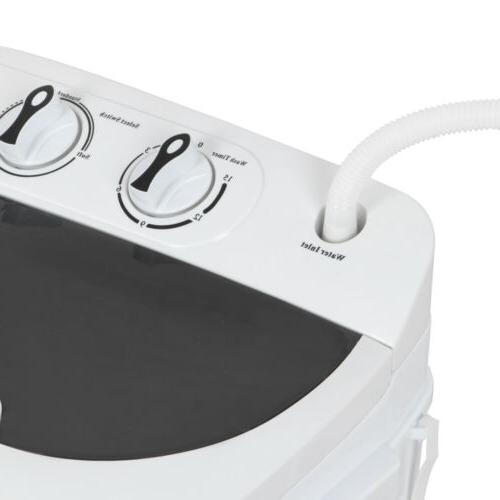 White Compact Portable & Dryer with Mini Washing Machine Dryer