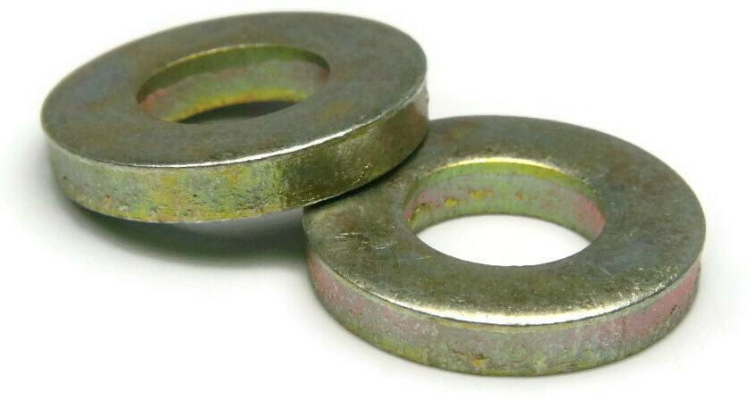 extra thick flat washers grade 8 yellow