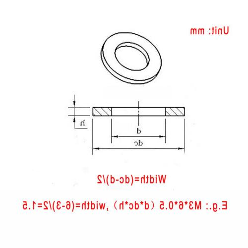A4 316 STAINLESS STEEL FLAT WASHERS METRIC BOLT&SCREW M3