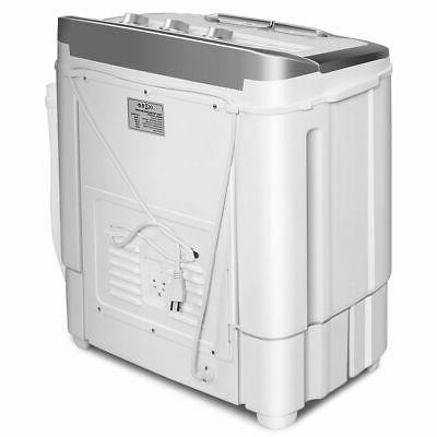 Mini Washing Washer 13lbs Spin Gray &