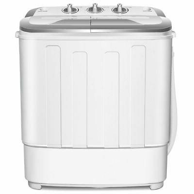Mini Washing Washer Spin Spinner White New