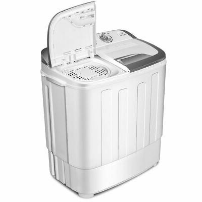 Mini Washing Washer 13lbs Spin White New